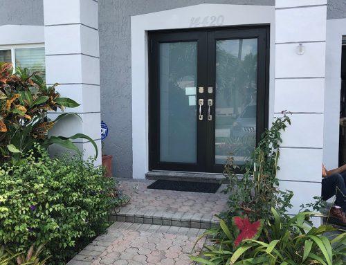 Davie White Windows Bronze Doors